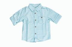 Μπλε ελεγμένο πουκάμισο Στοκ Εικόνες