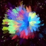 μπλε ζωηρόχρωμο λουλού&delt Στοκ εικόνες με δικαίωμα ελεύθερης χρήσης