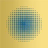 Μπλε ημίτονο υπόβαθρο κύκλων, ημίτονο σχέδιο σημείων Στοκ φωτογραφίες με δικαίωμα ελεύθερης χρήσης