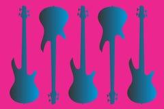 μπλε ηλεκτρική κιθάρα Στοκ φωτογραφίες με δικαίωμα ελεύθερης χρήσης
