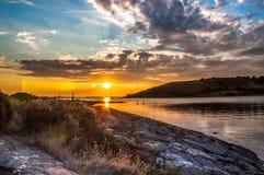Μπλε ηλιοβασίλεμα Lilleby στοκ εικόνα