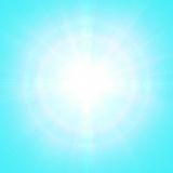 Μπλε ηλιόλουστο υπόβαθρο Στοκ εικόνες με δικαίωμα ελεύθερης χρήσης