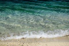 Μπλε θάλασσα ή ωκεάνιο νερό Στοκ Φωτογραφία