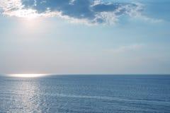 Μπλε θάλασσα τοπίων Στοκ φωτογραφία με δικαίωμα ελεύθερης χρήσης