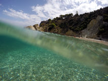 μπλε θάλασσα Στοκ Φωτογραφίες