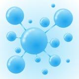 Μπλε διάνυσμα εικονιδίων μορίων σύγχρονο πρότυπο σχεδίο&upsil ελεύθερη απεικόνιση δικαιώματος