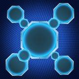 μπλε διάνυσμα νέου απεικόνισης ανασκόπησης Στοκ φωτογραφία με δικαίωμα ελεύθερης χρήσης