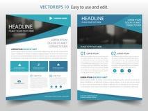 Μπλε διάνυσμα προτύπων σχεδίου ετήσια εκθέσεων φυλλάδιων τριγώνων αφηρημένο Infographic αφίσα περιοδικών επιχειρησιακών ιπτάμενων απεικόνιση αποθεμάτων