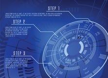 μπλε διάνυσμα techno eps10 ανασκόπησης Στοκ Εικόνες