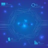 Μπλε διάφορος πίνακας κυκλωμάτων τεχνολογίας διανυσματική απεικόνιση