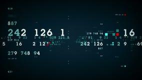 Μπλε διαγραμμάτων απόδοσης αποθεμάτων διανυσματική απεικόνιση