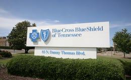 Μπλε διαγώνια μπλε ασπίδα του Τένεσι Στοκ εικόνα με δικαίωμα ελεύθερης χρήσης