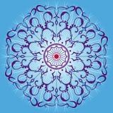 Μπλε διακόσμηση mandala Στοκ Εικόνα