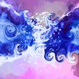 Μπλε διανυσματικό υπόβαθρο μπουκλών Στοκ εικόνα με δικαίωμα ελεύθερης χρήσης