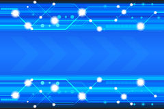 Μπλε διανυσματικό υπόβαθρο τεχνολογίας με τα διάφορα τεχνολογικά στοιχεία Στοκ εικόνα με δικαίωμα ελεύθερης χρήσης