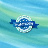 Μπλε διανυσματικό υπόβαθρο watercolor διάνυσμα Στοκ Φωτογραφία