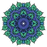 Μπλε διανυσματικό mandala Στοκ φωτογραφία με δικαίωμα ελεύθερης χρήσης