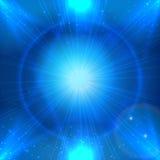 Μπλε διαστημικό υπόβαθρο Abstarct με το ελαφρύ αστέρι για τη διαφημισμένη τοποθέτηση προϊόντων Στοκ φωτογραφίες με δικαίωμα ελεύθερης χρήσης