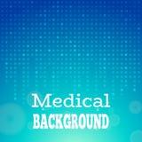 Μπλε ιατρική ανασκόπηση Στοκ φωτογραφία με δικαίωμα ελεύθερης χρήσης