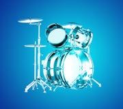 Μπλε διαφανή τύμπανα Στοκ φωτογραφία με δικαίωμα ελεύθερης χρήσης