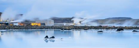 Μπλε λιμνοθάλασσα & ατμός Στοκ Φωτογραφία