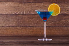 Μπλε λιμνοθάλασσα Μαργαρίτα Cocktail Στοκ Εικόνες