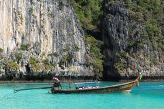 Μπλε λιμνοθάλασσα, νησί phi-Phi, Ταϊλάνδη Στοκ Φωτογραφίες