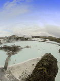 Μπλε λιμνοθάλασσα της Ισλανδίας Στοκ Εικόνες