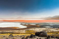 Μπλε λιμνοθάλασσα Altiplano Στοκ Φωτογραφία