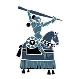Μπλε ιππικός ιππότης Στοκ Φωτογραφία