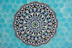 μπλε ισλαμικά κεραμίδια προτύπων μωσαϊκών Στοκ εικόνα με δικαίωμα ελεύθερης χρήσης