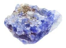 Μπλε ιώδης πέτρα zoisite Tanzanite που απομονώνεται στοκ εικόνες