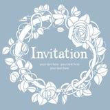 Μπλε κάρτα πρόσκλησης Στοκ εικόνα με δικαίωμα ελεύθερης χρήσης