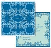 Μπλε κάρτα Στοκ Εικόνες