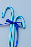 Μπλε κάλαμοι καραμελών Στοκ φωτογραφία με δικαίωμα ελεύθερης χρήσης