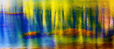 Μπλε κίτρινος νερού ποταμός Ουάσιγκτον Wenatchee αντανάκλασης αφηρημένος Στοκ εικόνα με δικαίωμα ελεύθερης χρήσης