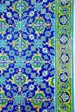 Μπλε-κίτρινος-πράσινα κεραμίδια μωσαϊκών Στοκ Εικόνες