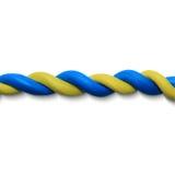 Μπλε κίτρινο σχοινί ελεύθερη απεικόνιση δικαιώματος