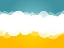 Μπλε κίτρινο υπόβαθρο σύννεφων ελεύθερη απεικόνιση δικαιώματος