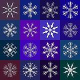μπλε καθορισμένο snowflake ανασκόπησης διάνυσμα Στοκ φωτογραφία με δικαίωμα ελεύθερης χρήσης