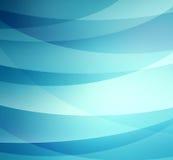 Μπλε και άσπρα κάμπτοντας λωρίδες που βάζουν σε στρώσεις στο αφηρημένο σχέδιο, μπλε υπόβαθρο διανυσματική απεικόνιση