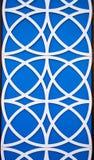 Μπλε και άσπρα σχέδια κύκλων στοκ εικόνα