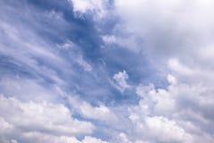 Μπλε και άσπρα σύννεφα ουρανού Στοκ φωτογραφίες με δικαίωμα ελεύθερης χρήσης