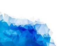 Μπλε και άσπρο αφηρημένο υπόβαθρο κρητιδογραφιών στοκ φωτογραφία με δικαίωμα ελεύθερης χρήσης