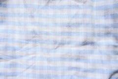 Μπλε και άσπρο αφηρημένο υπόβαθρο υφάσματος χρώματος Στοκ φωτογραφία με δικαίωμα ελεύθερης χρήσης