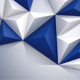 Μπλε και άσπρο διανυσματικό γεωμετρικό υπόβαθρο. Στοκ Εικόνες