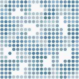 Μπλε και άσπρο Πόλκα σημείων ύφασμα σχεδίων κεραμιδιών σχεδίου μωσαϊκών αφηρημένο Στοκ Εικόνες