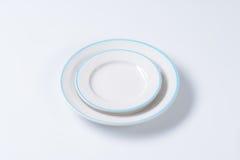 Μπλε και άσπρο σύνολο γευμάτων Στοκ εικόνες με δικαίωμα ελεύθερης χρήσης