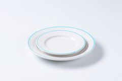 Μπλε και άσπρο σύνολο γευμάτων Στοκ Φωτογραφία