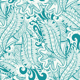 Μπλε και άσπρο doodle σχεδίων Στοκ εικόνα με δικαίωμα ελεύθερης χρήσης